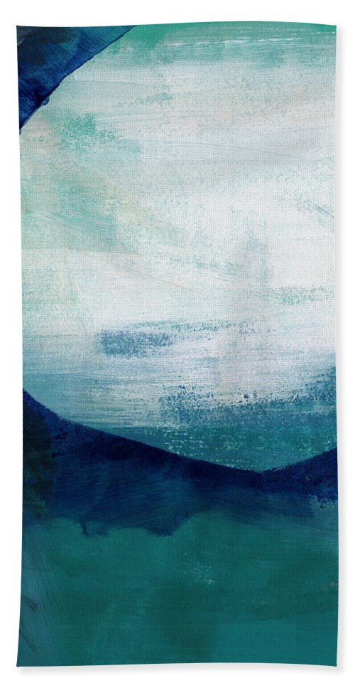 Blue Beach Towel featuring the painting Free My Soul by Linda Woods