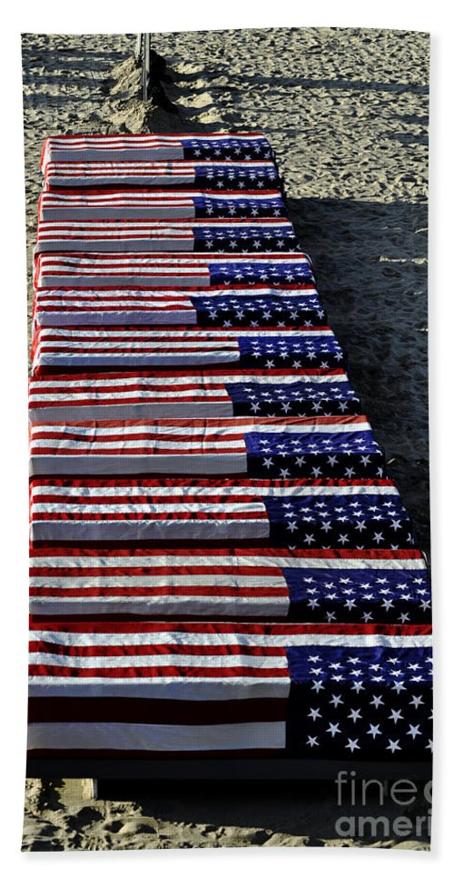 Clay Beach Towel featuring the photograph Freedom Costs by Clayton Bruster