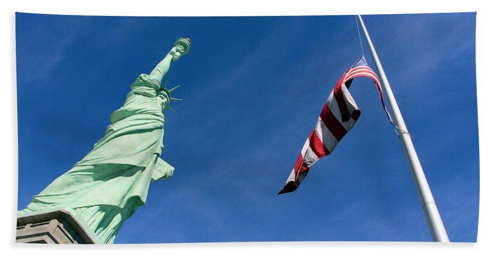Las Vegas Beach Towel featuring the photograph Freedom Flag by Munir Alawi