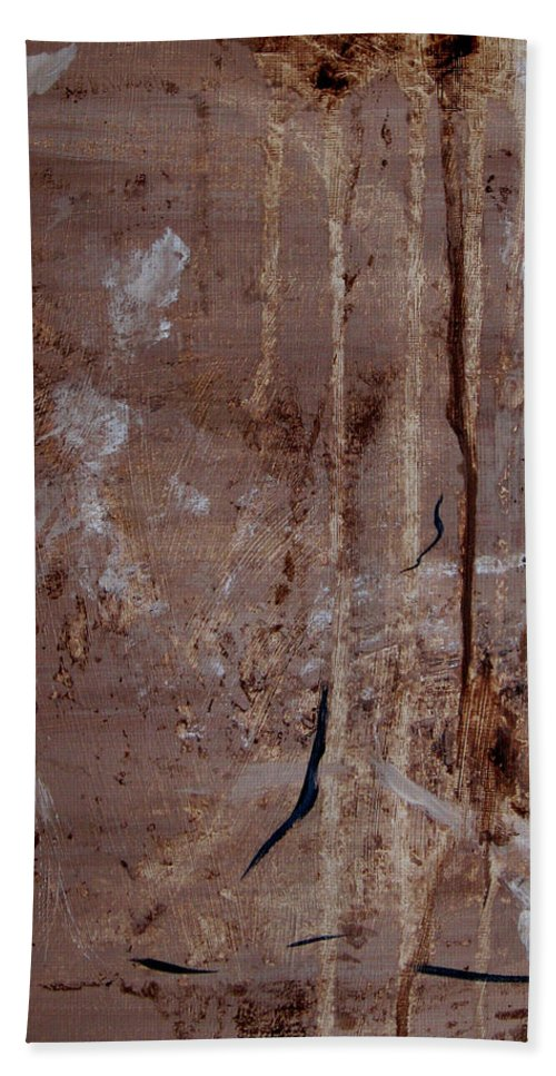 Abstract Beach Towel featuring the painting Freedom Of Expression II by Ruth Palmer