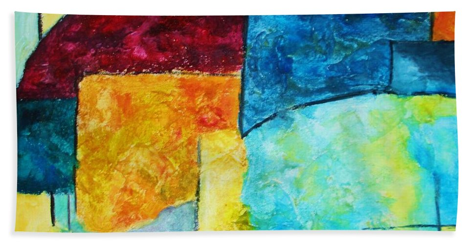 Acrylic Painting Beach Towel featuring the painting Freedom by Yael VanGruber