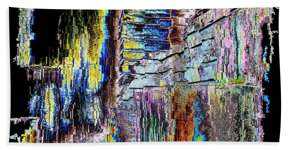 Abstract Beach Towel featuring the digital art Freeway Park 9 by Tim Allen