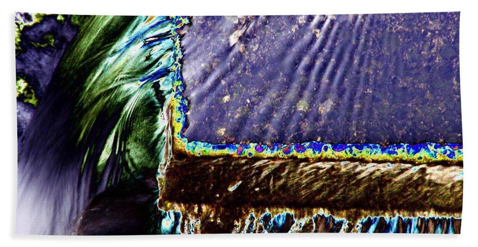 Seattle Beach Towel featuring the digital art Freeway Park Waterfall by Tim Allen