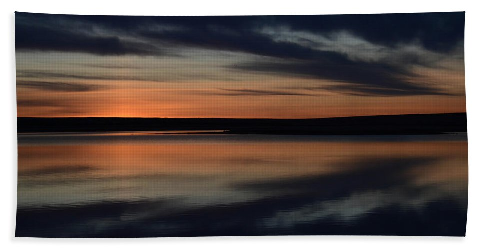 Dawn Beach Towel featuring the photograph Freezeout Montana Sunrise by Whispering Peaks Photography