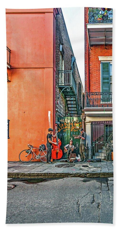 French Quarter Beach Towel featuring the photograph French Quarter Trio by Steve Harrington