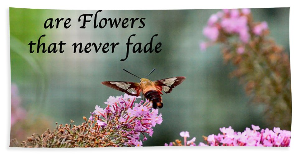 Friends Beach Towel featuring the photograph Friends Are Flowers That Never Fade by Kerri Farley