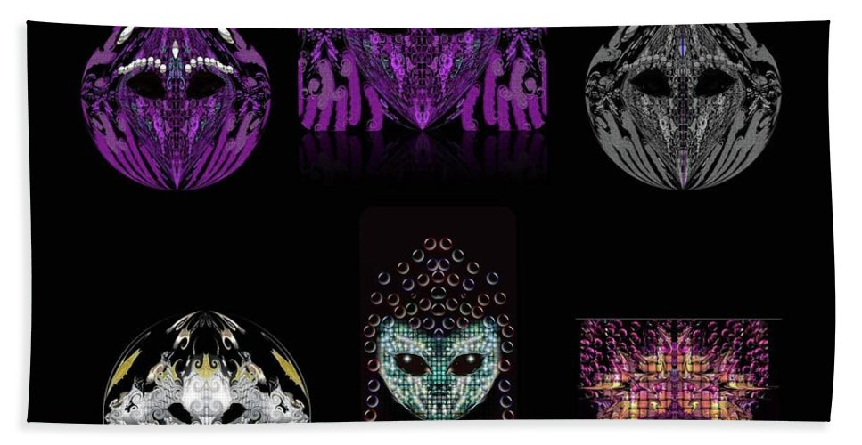 Beach Towel featuring the digital art Friends? by Subbora Jackson