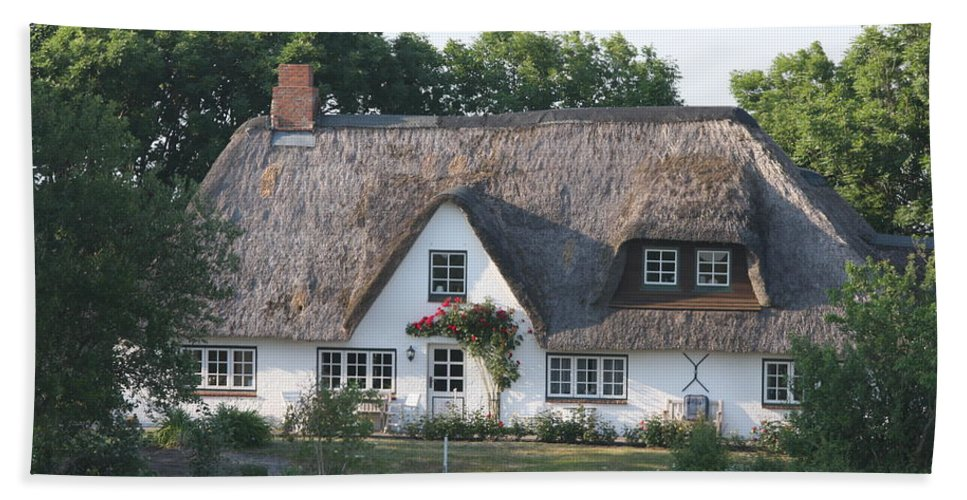 Thatched Roof House Beach Towel featuring the photograph Friesian House by Christiane Schulze Art And Photography