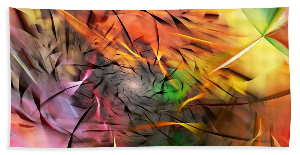 Digital Painting Beach Towel featuring the digital art From Both Sides Now by David Lane