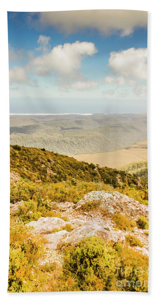 Mountain Beach Towel featuring the photograph From Mountains To Seas by Jorgo Photography - Wall Art Gallery