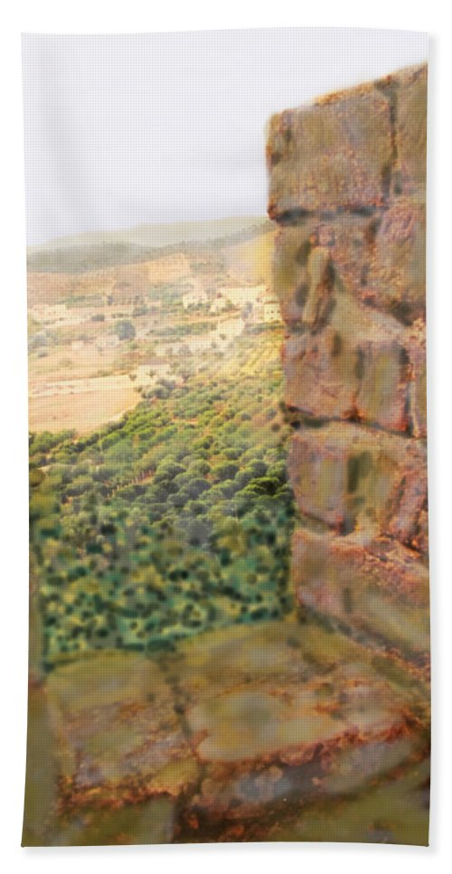 Portugal Beach Towel featuring the photograph From The Castle Walls by Ian MacDonald
