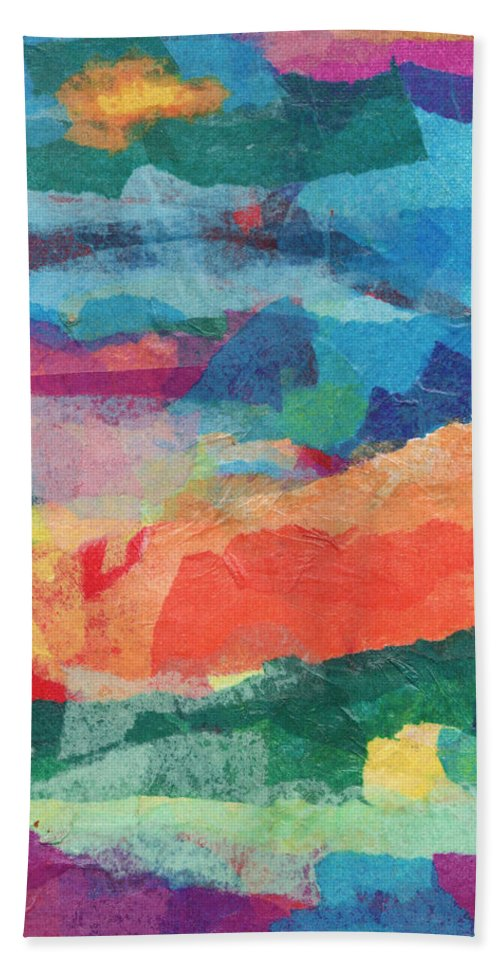 Collage Beach Towel featuring the digital art From The Oasis by Riva Danzig