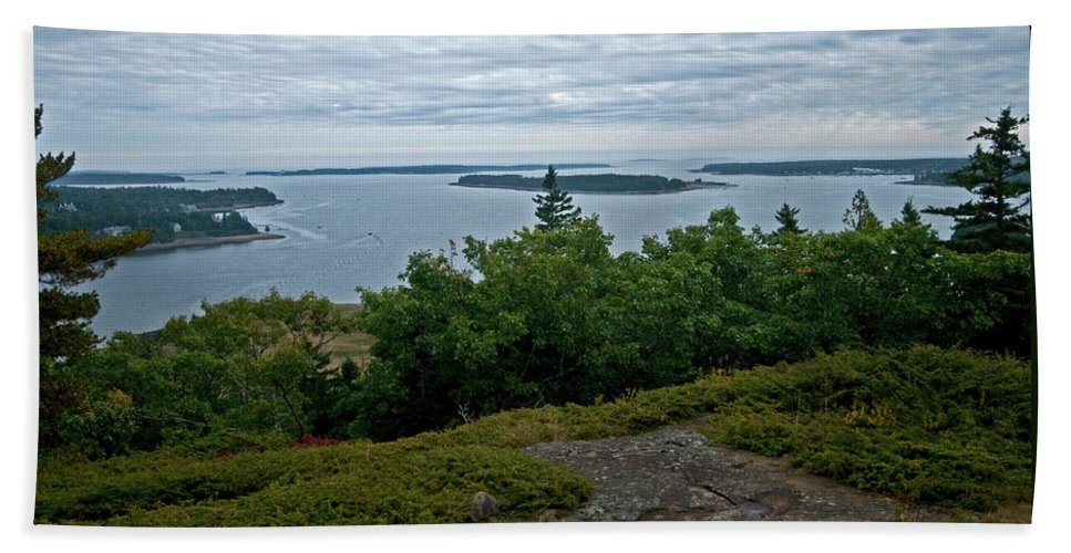 acadia National Park Beach Towel featuring the photograph From The Top by Paul Mangold