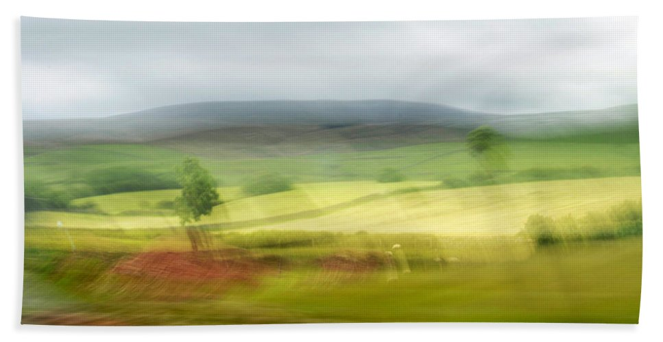 Nature Beach Towel featuring the photograph heading north of Yorkshire to Lake District - UK 1 by Dubi Roman