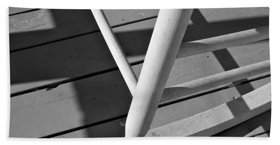 Porch Beach Towel featuring the photograph Front Porch Rocker by Betty Northcutt