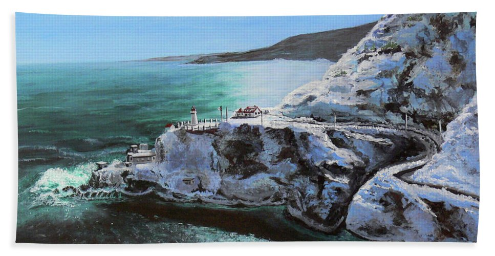 Fort Amherst Beach Towel featuring the painting Frosty Fort Amherst by Lorraine Vatcher