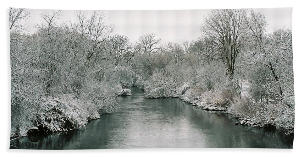 Frost Beach Towel featuring the photograph Frosty River by Lauri Novak