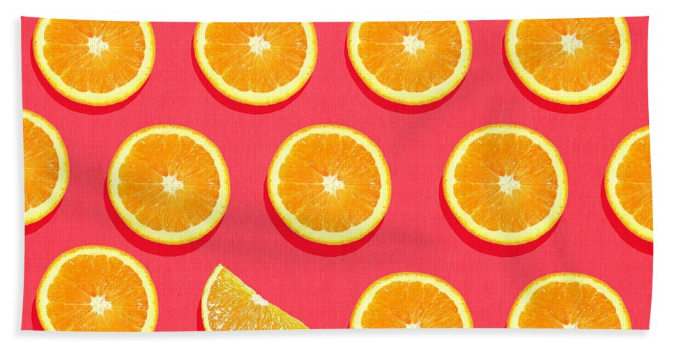 Abstract Beach Towel featuring the painting Fruit 2 by Mark Ashkenazi