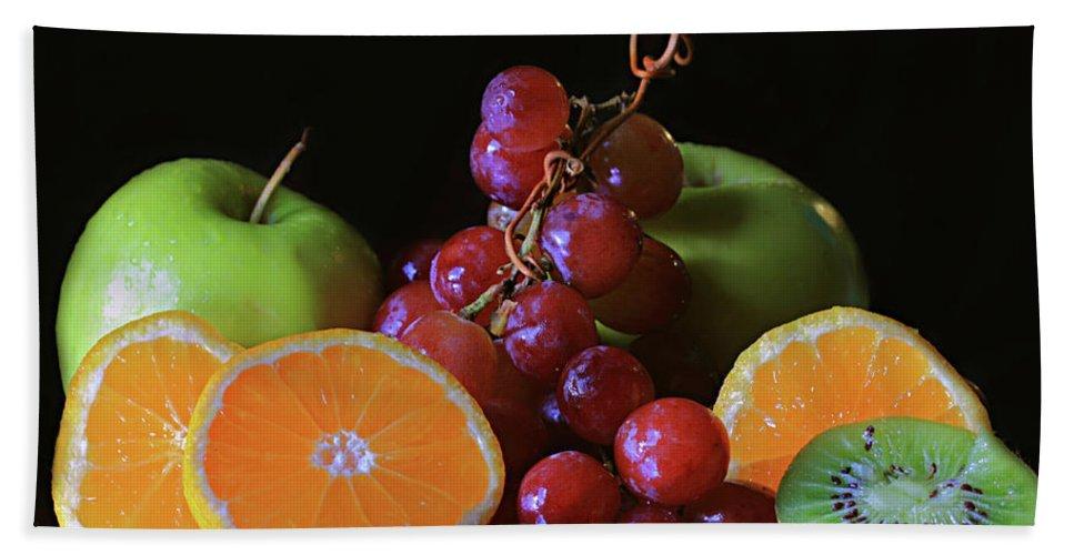 Fruit Still Life Beach Towel featuring the photograph Fruit Still Life by Angela Murdock
