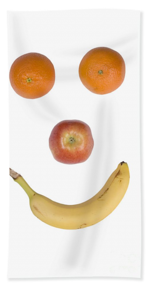 Fruit Beach Towel featuring the photograph Fruity Happy Face by James BO Insogna