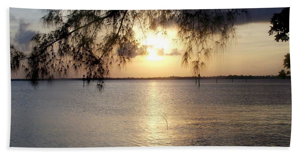 Sunrise Beach Towel featuring the photograph Ft. Myers Sunrise by Glenna Oliver