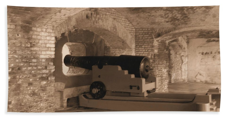 Fort Sumpter Beach Towel featuring the photograph Ft Sumpter Defense by Tommy Anderson