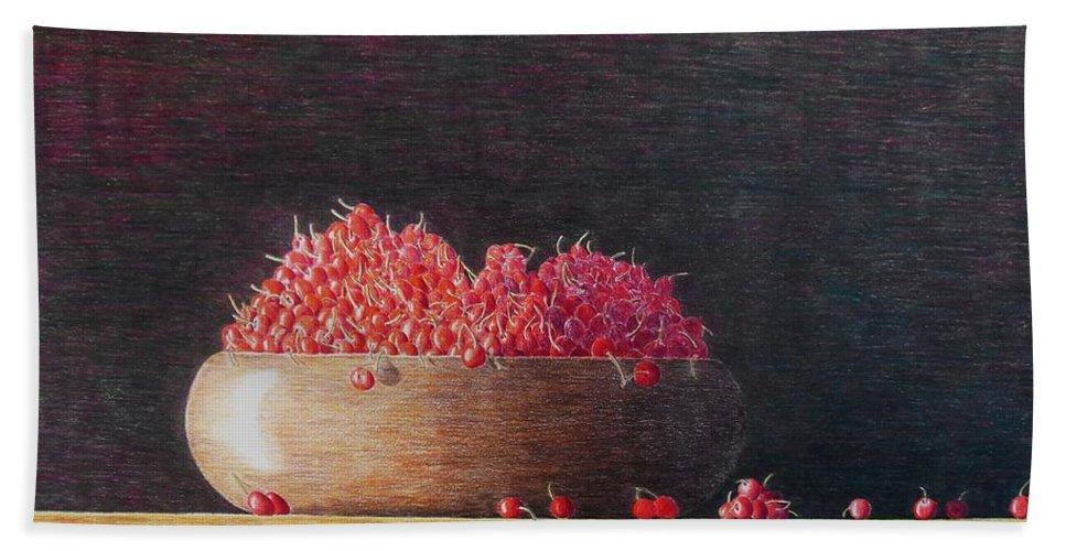Still Life Beach Sheet featuring the painting Full Life by A Robert Malcom