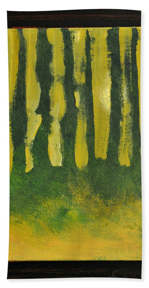 Trees Beach Towel featuring the painting Full Moon At Dusk by Tim Nyberg