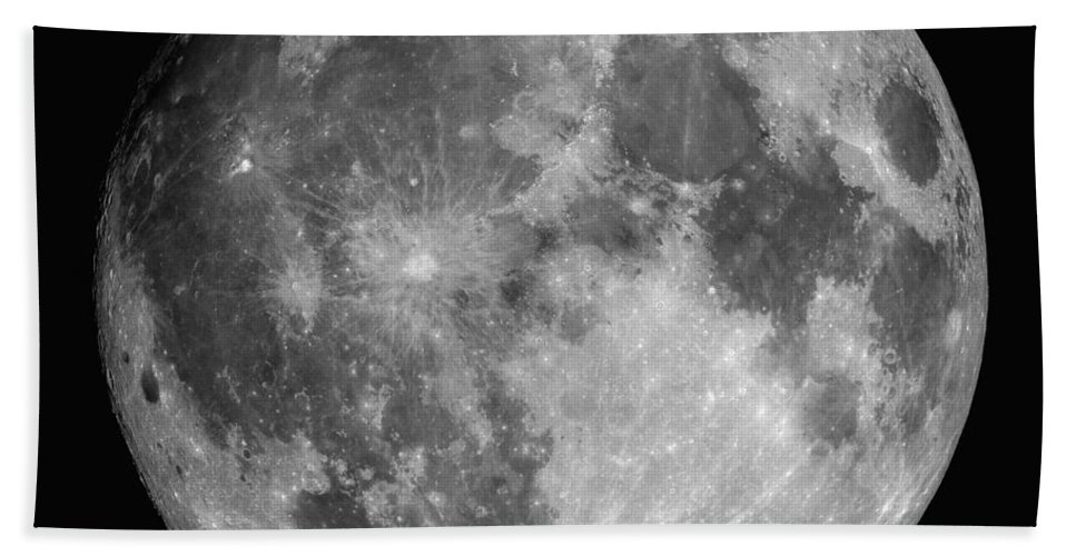Hydrogen-alpha Beach Towel featuring the photograph Full Moon by Roth Ritter