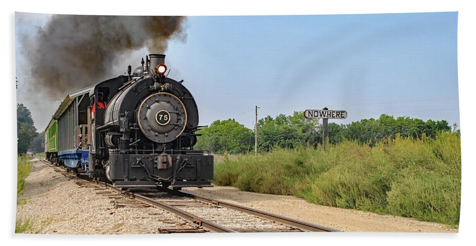 Transpotation Beach Towel featuring the photograph Full Steam To Nowhere by Kevin Anderson