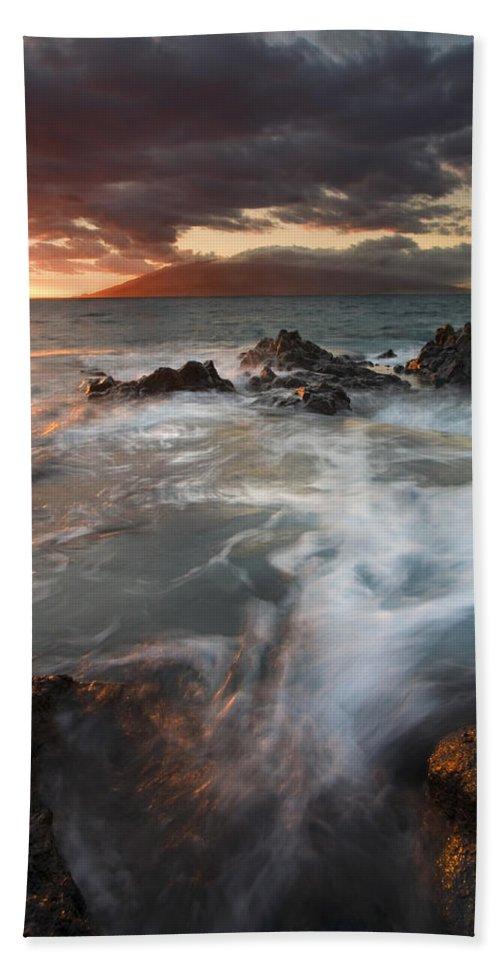 Cauldron Beach Towel featuring the photograph Full To The Brim by Mike Dawson
