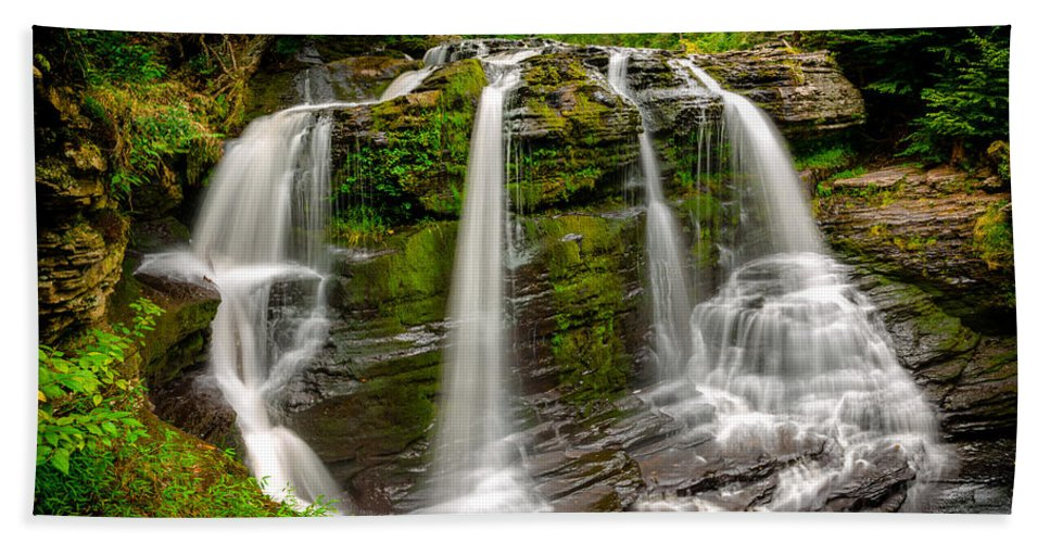 Fulmer Falls Beach Towel featuring the photograph Fulmer Falls by Mark Robert Rogers