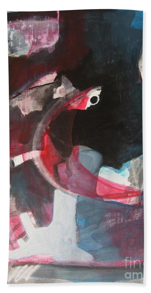 Abstract Paintings Paintings Abstract Art Paintings Beach Towel featuring the painting Fumbling With Memory by Seon-Jeong Kim