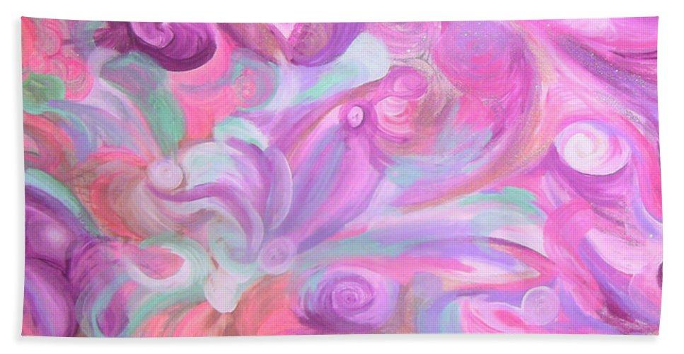 Beach Towel featuring the painting Fun Venture by Subbora Jackson