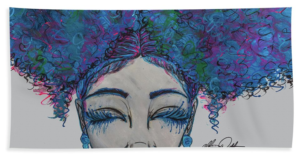 Beach Towel featuring the painting Furaha by Alicia Walter