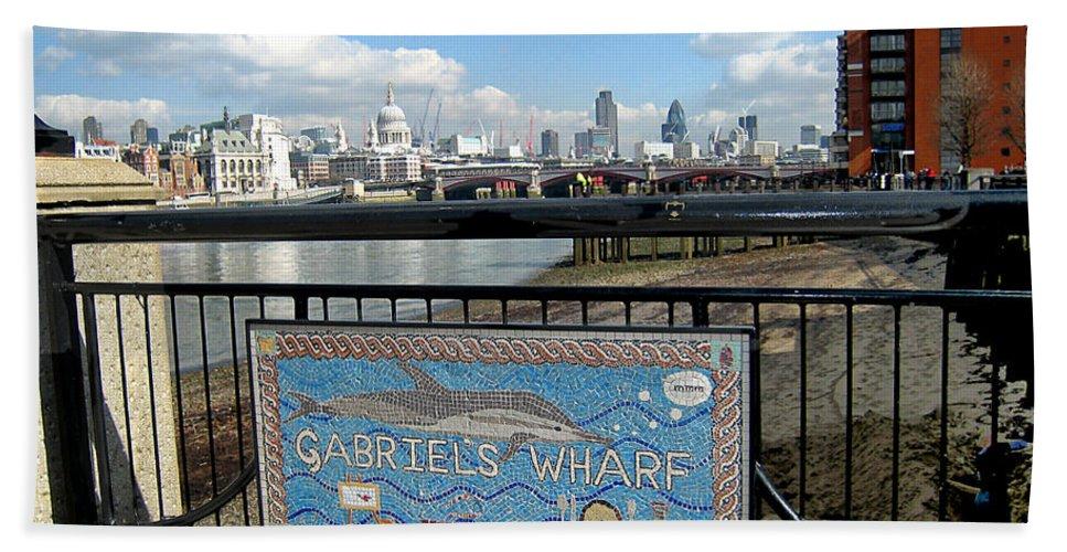 Wharf Beach Towel featuring the photograph Gabriel's Wharf by Madeline Ellis
