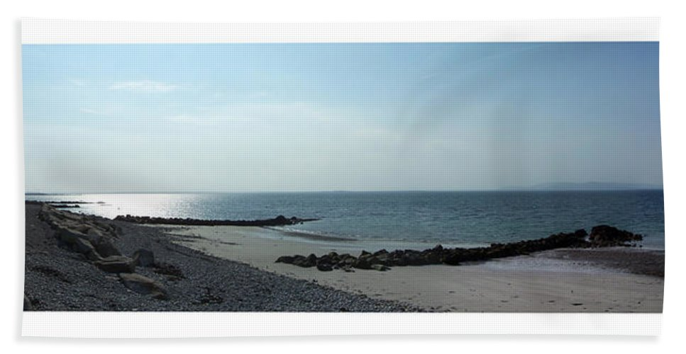 Irish Beach Sheet featuring the photograph Galway Bay At Salt Hill Park Galway Ireland by Teresa Mucha