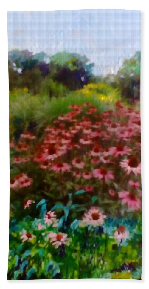 Garden Beach Towel featuring the painting Garden by Angelina Whittaker Cook