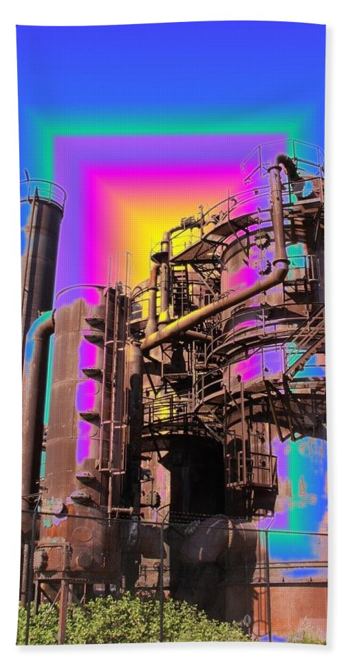 Seattle Beach Towel featuring the photograph Gasworks Park 3 by Tim Allen