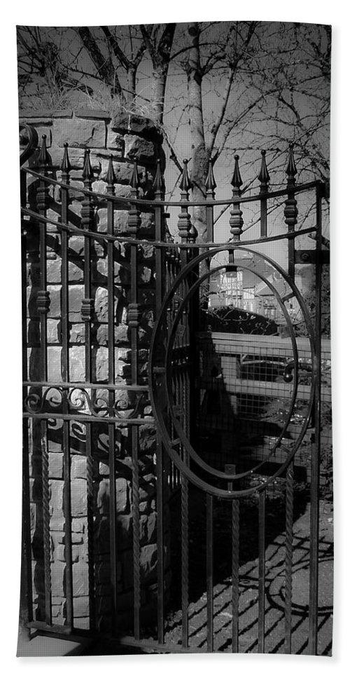 Irish Beach Sheet featuring the photograph Gate In Macroom Ireland by Teresa Mucha