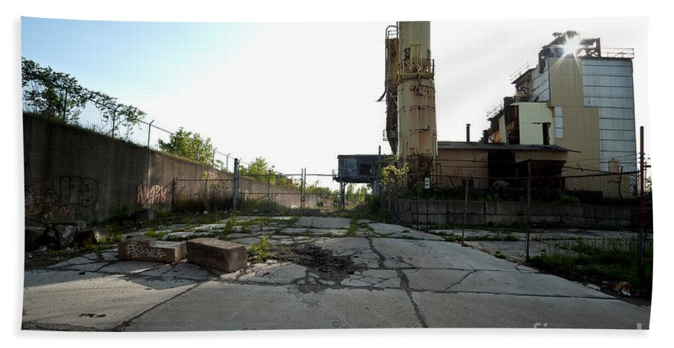 Detroit Beach Towel featuring the photograph Gate Is Locked by Steven Dunn