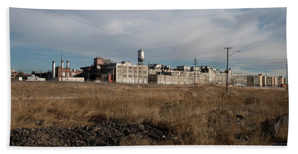 Gates Factory Beach Towel featuring the photograph Gates Factory 2 by Angus Hooper Iii