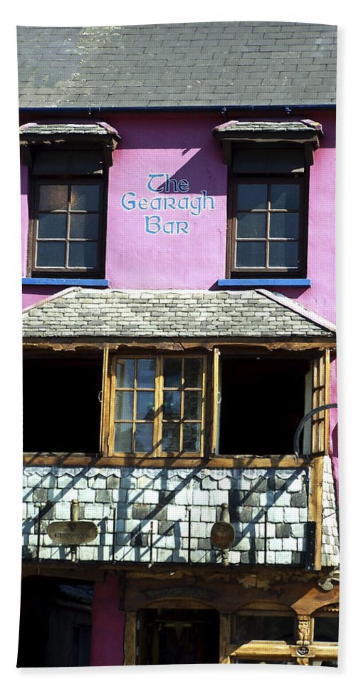 Irish Beach Sheet featuring the photograph Gearagh Pub In Macroom Ireland by Teresa Mucha