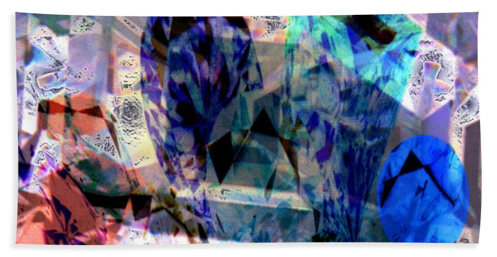 Abstract Beach Towel featuring the photograph Gems Of Ice by Seth Weaver