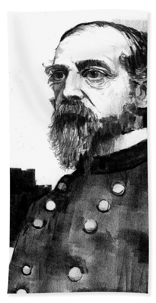 General Beach Towel featuring the drawing General George Meade by Paul Sachtleben
