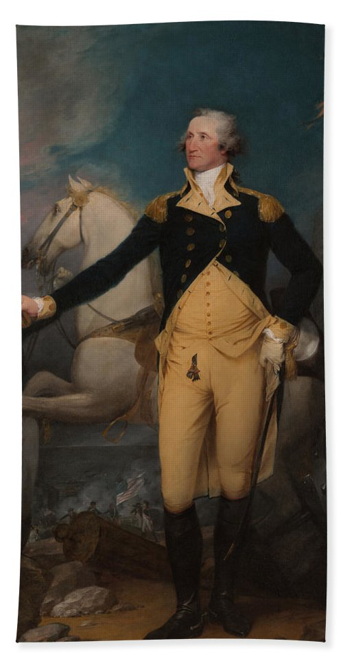 Painting Beach Towel featuring the painting General George Washington At Trenton by Mountain Dreams