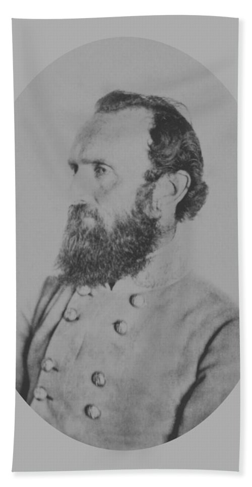 Stonewall Jackson Beach Towel featuring the photograph General Thomas Stonewall Jackson - Two by War Is Hell Store