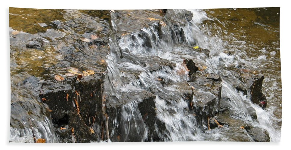 Waterfall Beach Towel featuring the photograph Gentle Falls by Kelly Mezzapelle