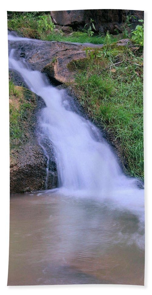 Waterfall Beach Towel featuring the photograph Gently Flowing by Kristin Elmquist