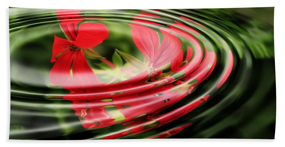 Beach Towel featuring the photograph Geranium by Best Offers